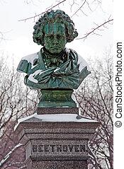 雕像, Ludwig, 搬運車, 貝多芬