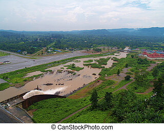 Khun Dan Prakan Chon Dam - View from top of Khun Dan Prakan...