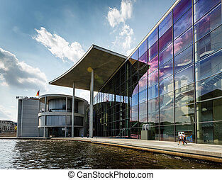 German Chancellery Bundeskanzleramt Building near Reichstag...