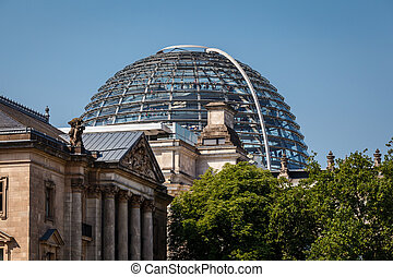 The Roof of Reichstag Building in Berlin, Germany