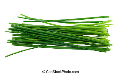 fresh chives herb isolated on a white background