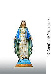 Virgen, maría, estatua, Chantaburi, provincia,...