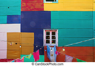 Typical wall in La Boca