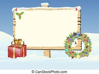 christmas sign - christmas sign