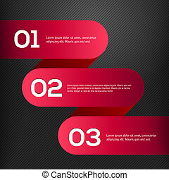 Vector bright 3D red banners set vector ilustration
