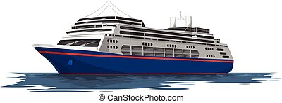 Vector of cruise ship. - Vector illustration of cruise ship...