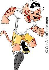 Vector of tiger mascot.