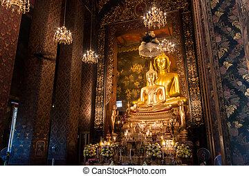 buddha statue beautiful in the chur