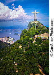 Christ the Redeemer Statue - Christ the Redeemer statue on...