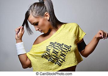 beautiful fitness woman , studio shot