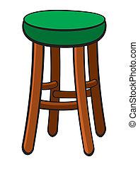 Bar Stool - Vector illustration of a bar stool.