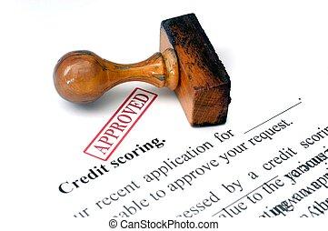 kreditera, Göra poäng