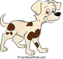 Vector of a cute dog. - Vector illustration of a cute dog...