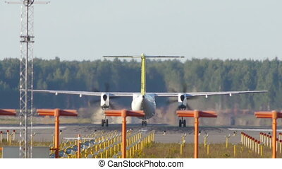 Turboprop aircraft takeoff