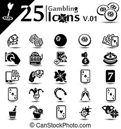 Gambling Icons v01 - Gambling icon set, basic series