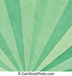 Green rays background - Grunge retro background with green...