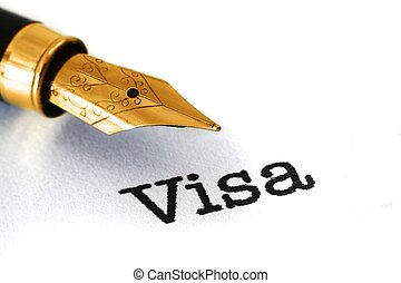 Visa text and fountain pen