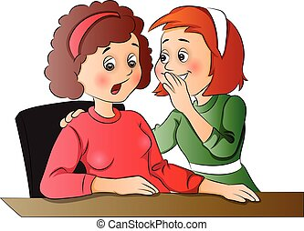 Vector of women gossiping at office. - Vector illustration...