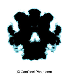 Rorschach inkblot test illustration, random abstract...