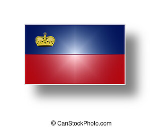 Flag of Liechtenstein stylized I - Civil and state flag of...
