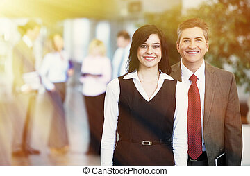 Bussiness partners - Two bussiness partners man and woman...