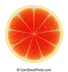 Slice of grapefruit - Abstract background with red citrus...