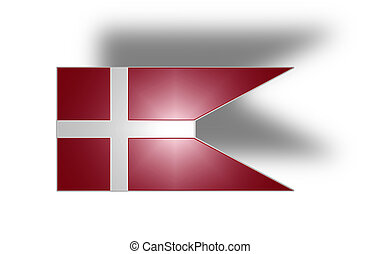 Naval flag of Denmark (stylized I). - Naval ensign of the...