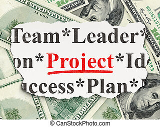 Business concept: Project on Money background