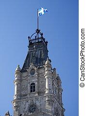 Quebec Parliament - Clock tower of the Quebec parliament...
