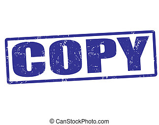 Copy stamp - Copy grunge rubber stamp, vector illustration