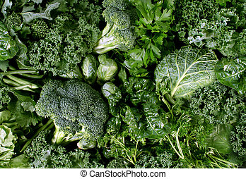 Green Vegetables - Green vegetables and dark leafy food...