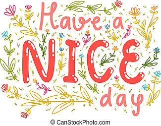 Have a nice day wishing card