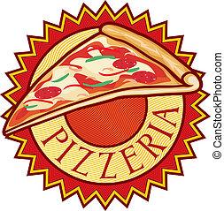 pizzeria label design