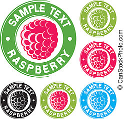 Raspberry label design