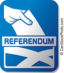 Scottish independence referendum - illustration of a ballot...