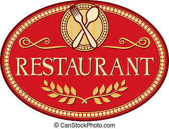 restaurant symbol (restaurant sign design)