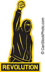 revolution (demonstrator, hooligan, protest man)