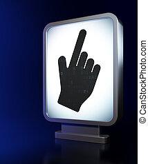 Web design concept: Mouse Cursor on billboard background