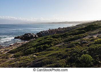 Gansbaai coastline in South Africa - Community at Gansbaai...