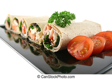 Platter Of Mixed Wraps