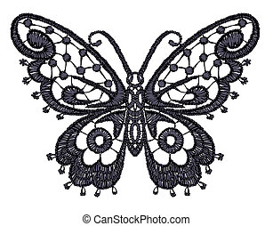 Lacy butterfly Vector illustration
