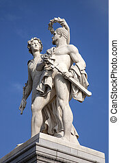 Warrior Sculpture (1860); Schlossbrucke Bridge; Unter den...