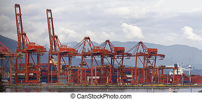 Port of Vancouver BC Cranes and Containers - Port of...