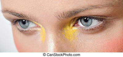 Modern fashionmakeup - Modern fashion makeup of a female eye...
