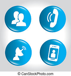 social network icons over gray background vector...