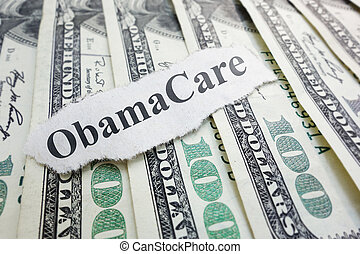 Obamacare - Closeup of an Obamacare newspaper headline on...
