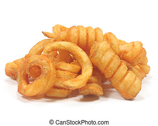 Twister fries in isolated white