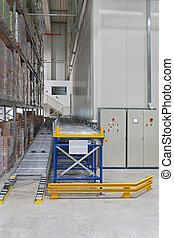 Conveyor in warehouse