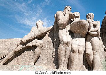 The Bandeiras Monument in Sao Paulo Brazil - The Bandeiras...