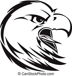 Eagle head tattoo, vintage engraving. - Eagle head tattoo...